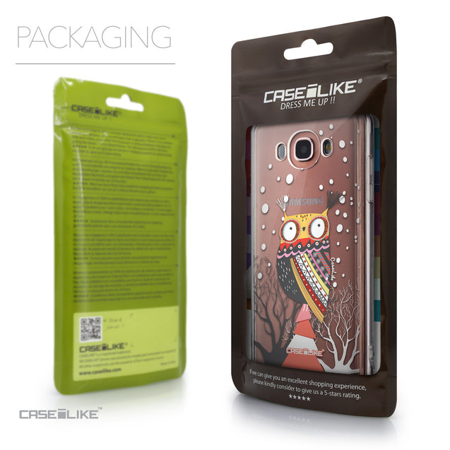 Packaging - CASEiLIKE Samsung Galaxy J7 (2016) back cover Owl Graphic Design 3317