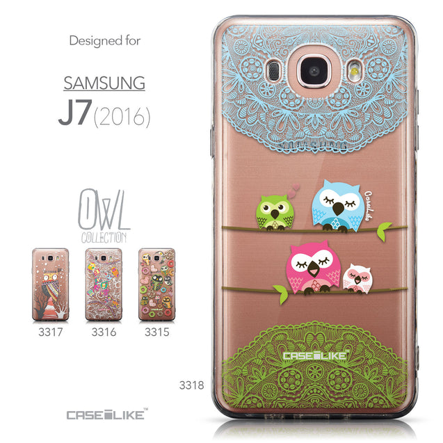 Collection - CASEiLIKE Samsung Galaxy J7 (2016) back cover Owl Graphic Design 3318