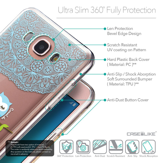 Details in English - CASEiLIKE Samsung Galaxy J7 (2016) back cover Owl Graphic Design 3318