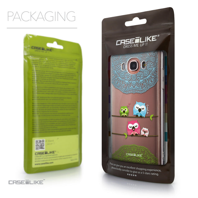 Packaging - CASEiLIKE Samsung Galaxy J7 (2016) back cover Owl Graphic Design 3318