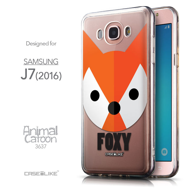 Front & Side View - CASEiLIKE Samsung Galaxy J7 (2016) back cover Animal Cartoon 3637