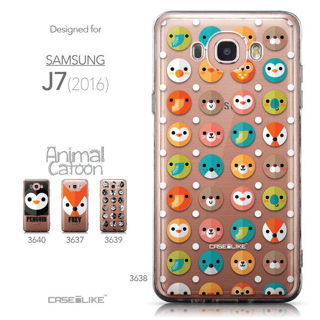 Collection - CASEiLIKE Samsung Galaxy J7 (2016) back cover Animal Cartoon 3638