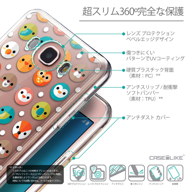Details in Japanese - CASEiLIKE Samsung Galaxy J7 (2016) back cover Animal Cartoon 3638