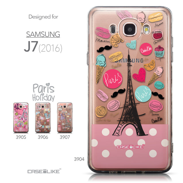 Collection - CASEiLIKE Samsung Galaxy J7 (2016) back cover Paris Holiday 3904