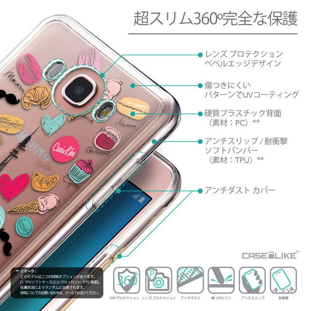 Details in Japanese - CASEiLIKE Samsung Galaxy J7 (2016) back cover Paris Holiday 3904