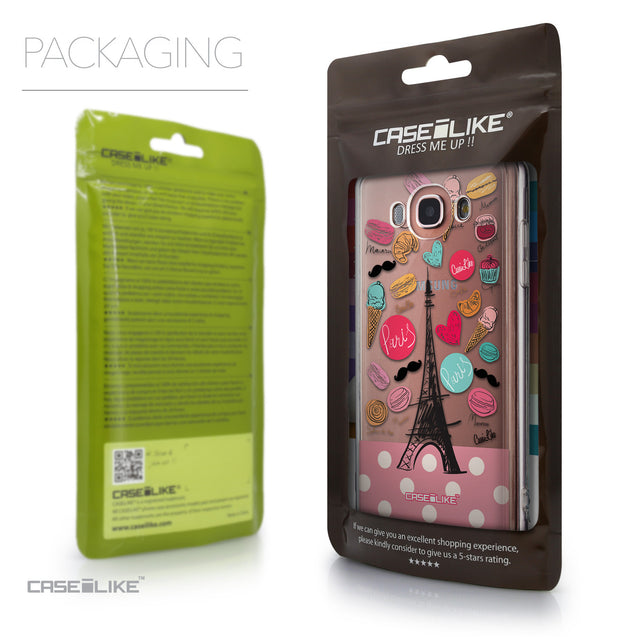 Packaging - CASEiLIKE Samsung Galaxy J7 (2016) back cover Paris Holiday 3904