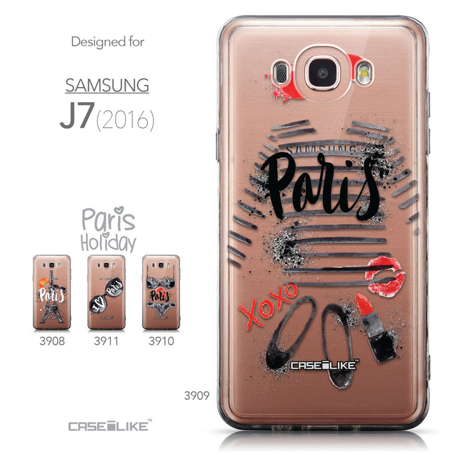 Collection - CASEiLIKE Samsung Galaxy J7 (2016) back cover Paris Holiday 3909