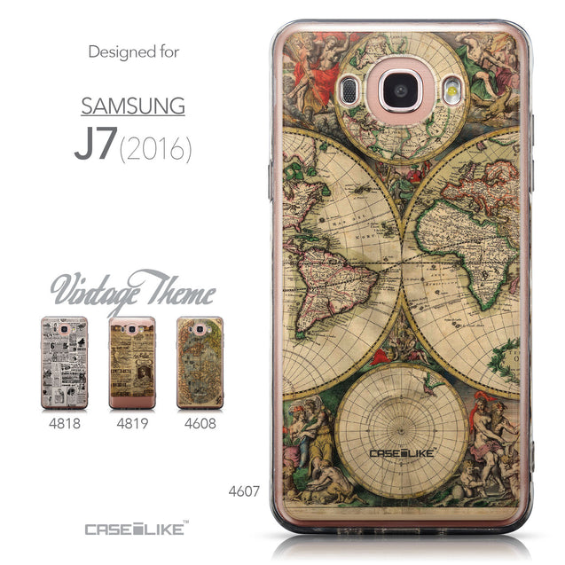 Collection - CASEiLIKE Samsung Galaxy J7 (2016) back cover World Map Vintage 4607