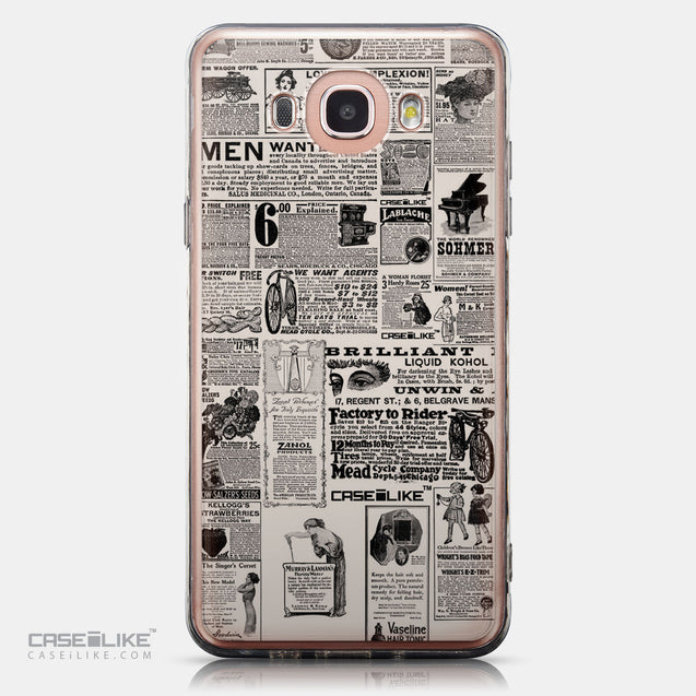 CASEiLIKE Samsung Galaxy J7 (2016) back cover Vintage Newspaper Advertising 4818