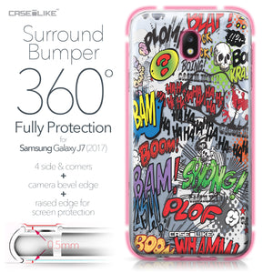Samsung Galaxy J7 (2017) case Comic Captions 2914 Bumper Case Protection | CASEiLIKE.com