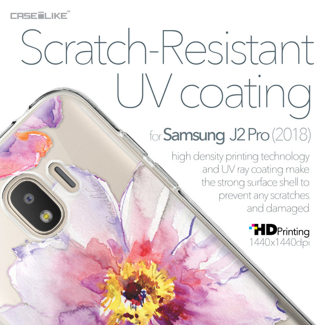 Samsung Galaxy J2 Pro (2018) case Watercolor Floral 2231 with UV-Coating Scratch-Resistant Case | CASEiLIKE.com