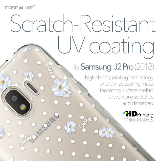 Samsung Galaxy J2 Pro (2018) case Watercolor Floral 2235 with UV-Coating Scratch-Resistant Case | CASEiLIKE.com