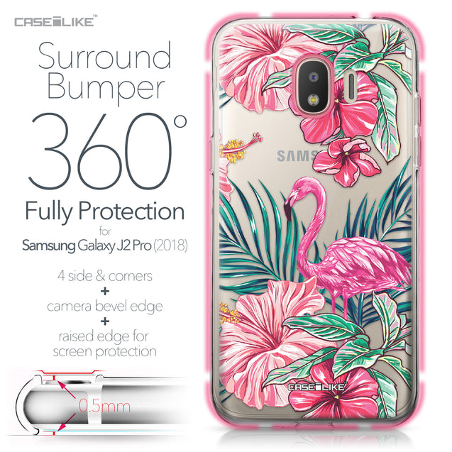 Samsung Galaxy J2 Pro (2018) case Tropical Flamingo 2239 Bumper Case Protection | CASEiLIKE.com