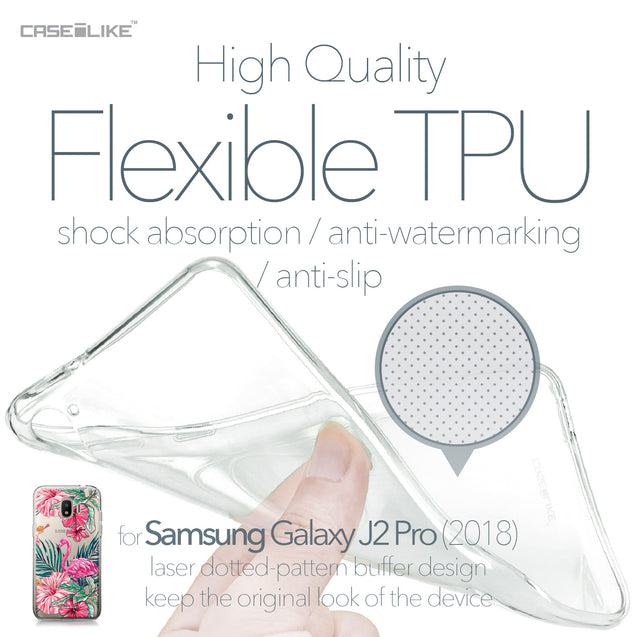 Samsung Galaxy J2 Pro (2018) case Tropical Flamingo 2239 Soft Gel Silicone Case | CASEiLIKE.com