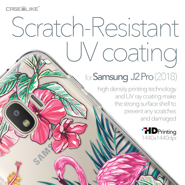 Samsung Galaxy J2 Pro (2018) case Tropical Flamingo 2239 with UV-Coating Scratch-Resistant Case | CASEiLIKE.com