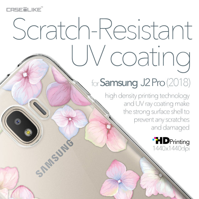Samsung Galaxy J2 Pro (2018) case Hydrangea 2257 with UV-Coating Scratch-Resistant Case | CASEiLIKE.com