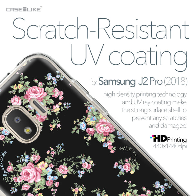 Samsung Galaxy J2 Pro (2018) case Floral Rose Classic 2261 with UV-Coating Scratch-Resistant Case | CASEiLIKE.com