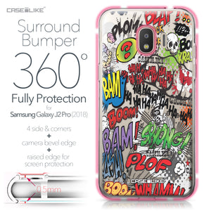 Samsung Galaxy J2 Pro (2018) case Comic Captions 2914 Bumper Case Protection | CASEiLIKE.com