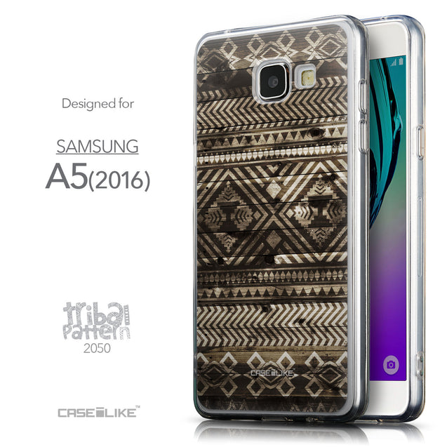 Front & Side View - CASEiLIKE Samsung Galaxy A5 (2016) back cover Indian Tribal Theme Pattern 2050