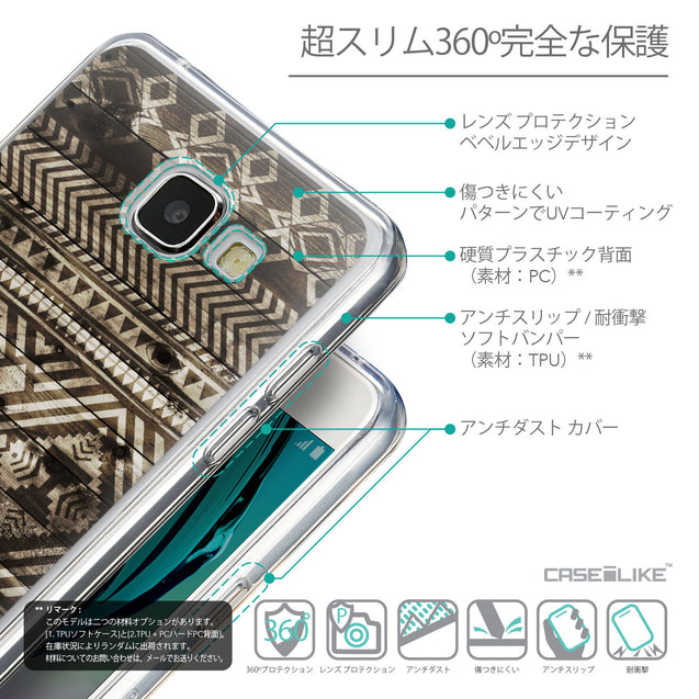 Details in Japanese - CASEiLIKE Samsung Galaxy A5 (2016) back cover Indian Tribal Theme Pattern 2050
