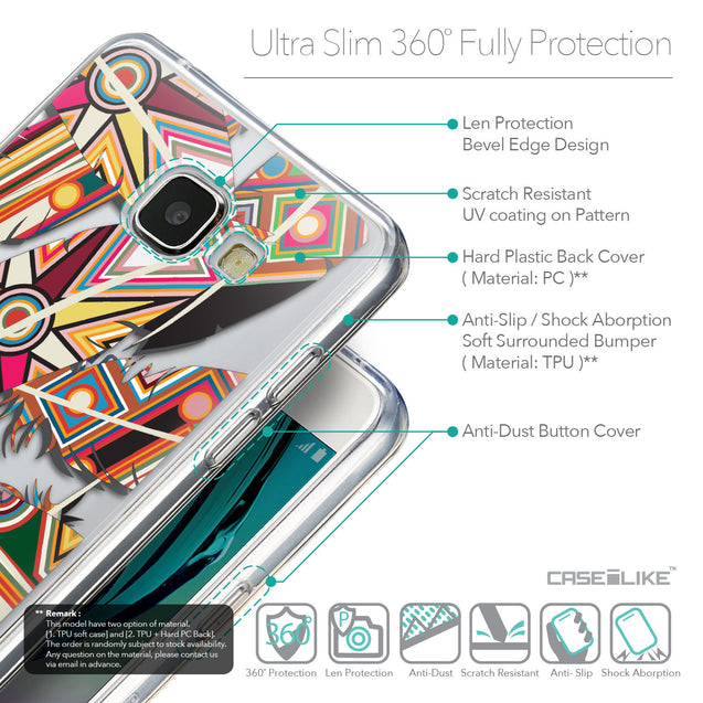 Details in English - CASEiLIKE Samsung Galaxy A5 (2016) back cover Indian Tribal Theme Pattern 2054