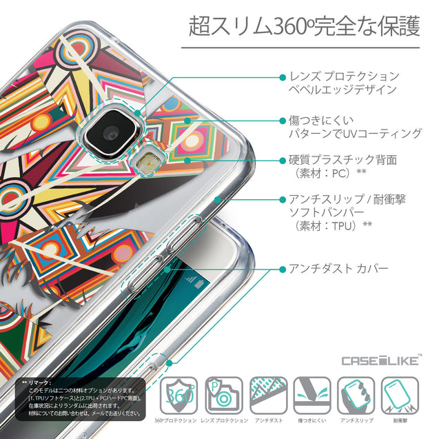 Details in Japanese - CASEiLIKE Samsung Galaxy A5 (2016) back cover Indian Tribal Theme Pattern 2054