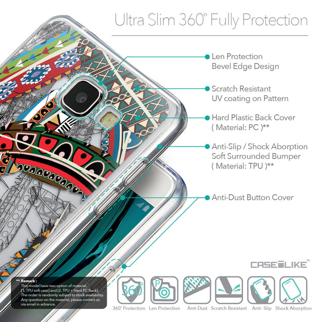 Details in English - CASEiLIKE Samsung Galaxy A5 (2016) back cover Indian Tribal Theme Pattern 2055
