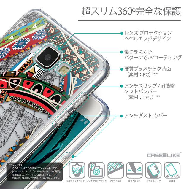 Details in Japanese - CASEiLIKE Samsung Galaxy A5 (2016) back cover Indian Tribal Theme Pattern 2055