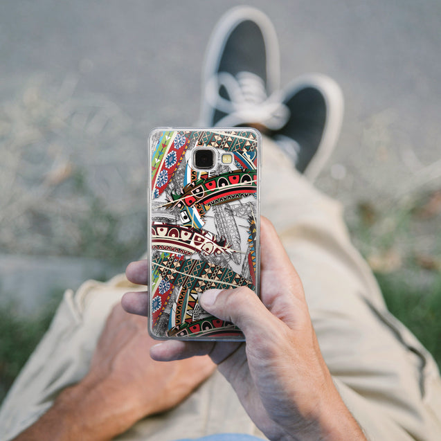 Share - CASEiLIKE Samsung Galaxy A5 (2016) back cover Indian Tribal Theme Pattern 2055