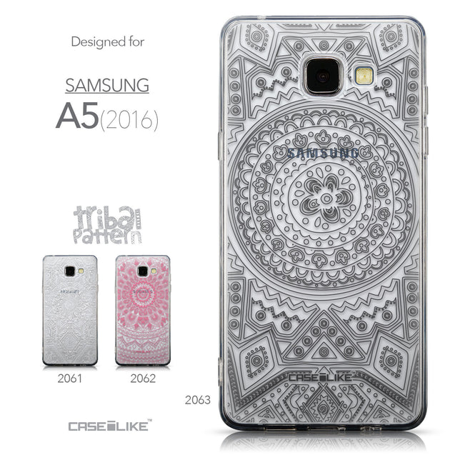 Collection - CASEiLIKE Samsung Galaxy A5 (2016) back cover Indian Line Art 2063