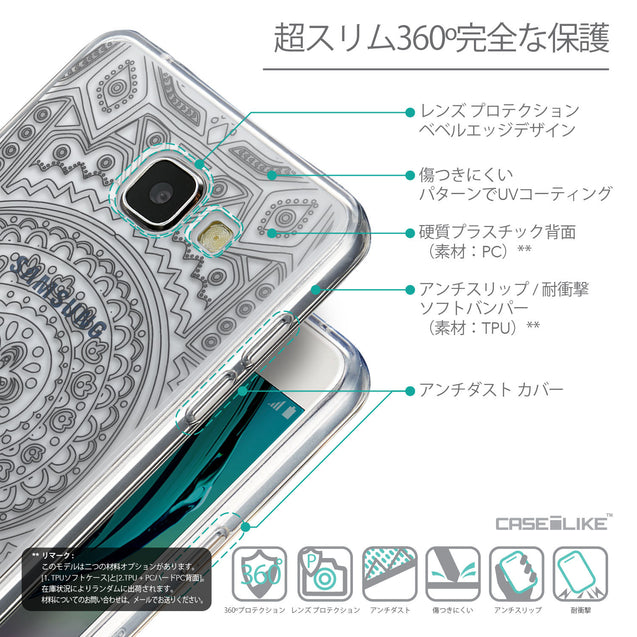 Details in Japanese - CASEiLIKE Samsung Galaxy A5 (2016) back cover Indian Line Art 2063