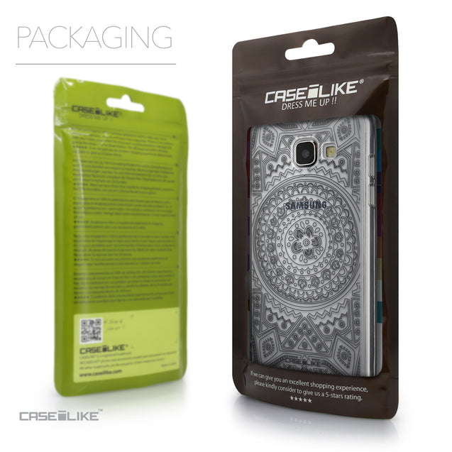 Packaging - CASEiLIKE Samsung Galaxy A5 (2016) back cover Indian Line Art 2063