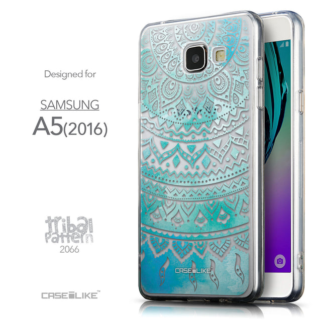 Front & Side View - CASEiLIKE Samsung Galaxy A5 (2016) back cover Indian Line Art 2066