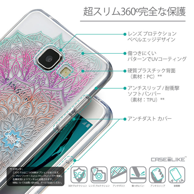 Details in Japanese - CASEiLIKE Samsung Galaxy A5 (2016) back cover Mandala Art 2090