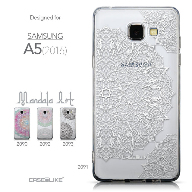 Collection - CASEiLIKE Samsung Galaxy A5 (2016) back cover Mandala Art 2091