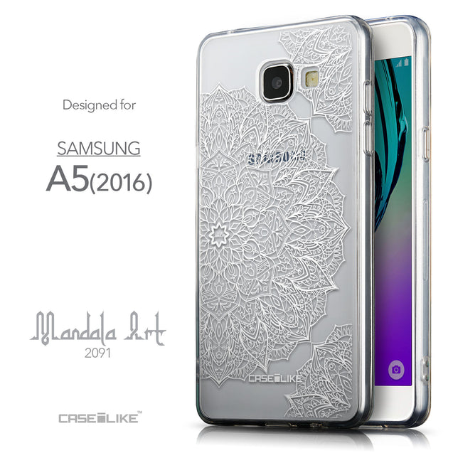 Front & Side View - CASEiLIKE Samsung Galaxy A5 (2016) back cover Mandala Art 2091