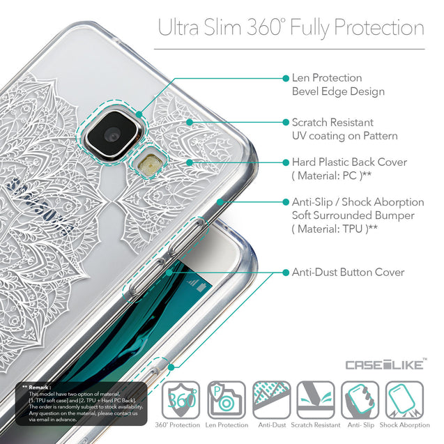 Details in English - CASEiLIKE Samsung Galaxy A5 (2016) back cover Mandala Art 2091