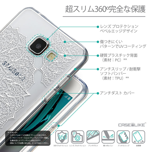 Details in Japanese - CASEiLIKE Samsung Galaxy A5 (2016) back cover Mandala Art 2091