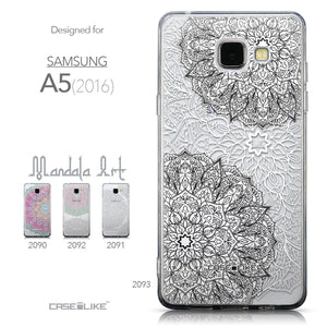 Collection - CASEiLIKE Samsung Galaxy A5 (2016) back cover Mandala Art 2093