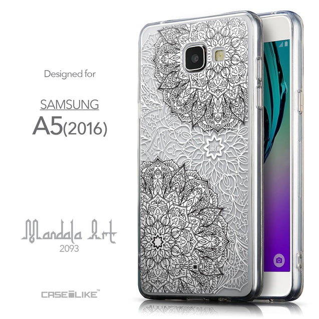 Front & Side View - CASEiLIKE Samsung Galaxy A5 (2016) back cover Mandala Art 2093