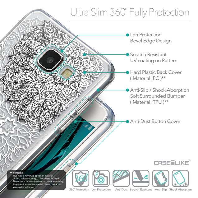 Details in English - CASEiLIKE Samsung Galaxy A5 (2016) back cover Mandala Art 2093