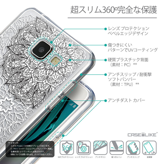Details in Japanese - CASEiLIKE Samsung Galaxy A5 (2016) back cover Mandala Art 2093