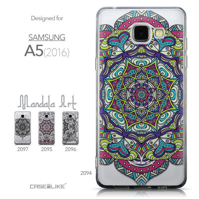Collection - CASEiLIKE Samsung Galaxy A5 (2016) back cover Mandala Art 2094