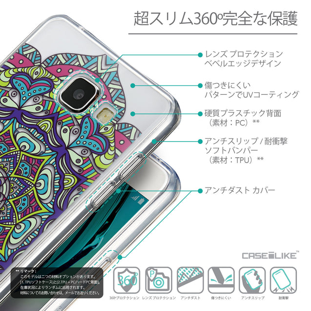 Details in Japanese - CASEiLIKE Samsung Galaxy A5 (2016) back cover Mandala Art 2094