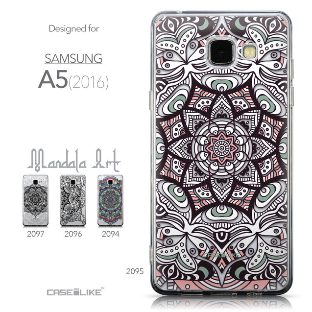 Collection - CASEiLIKE Samsung Galaxy A5 (2016) back cover Mandala Art 2095