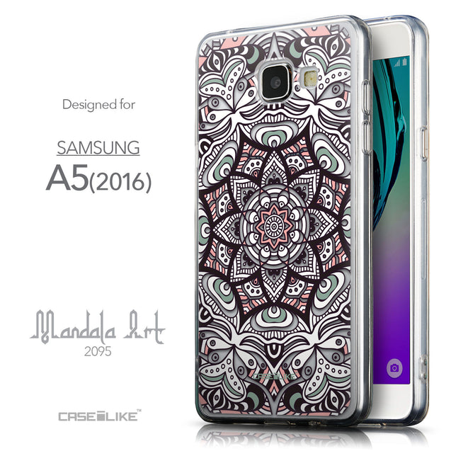 Front & Side View - CASEiLIKE Samsung Galaxy A5 (2016) back cover Mandala Art 2095