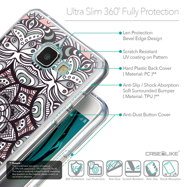 Details in English - CASEiLIKE Samsung Galaxy A5 (2016) back cover Mandala Art 2095