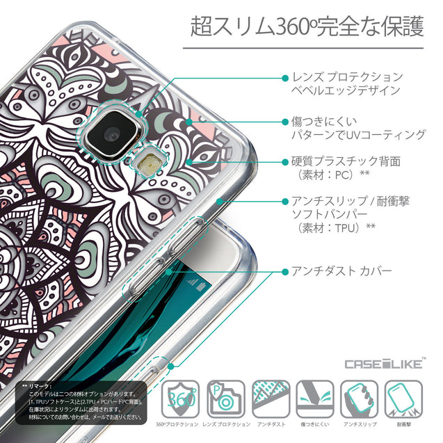 Details in Japanese - CASEiLIKE Samsung Galaxy A5 (2016) back cover Mandala Art 2095