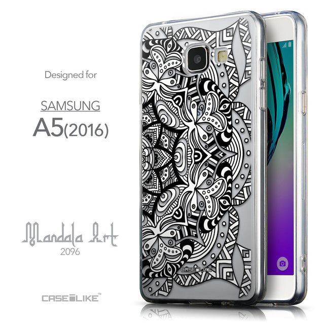 Front & Side View - CASEiLIKE Samsung Galaxy A5 (2016) back cover Mandala Art 2096