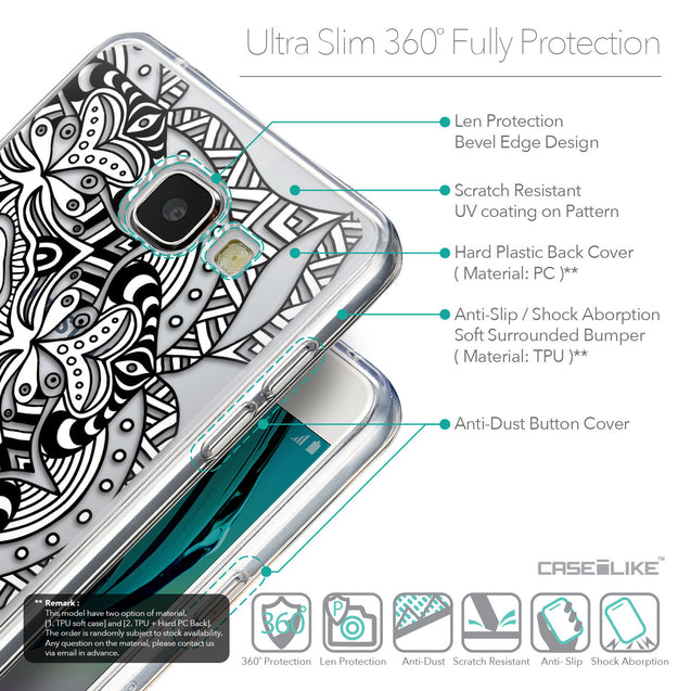 Details in English - CASEiLIKE Samsung Galaxy A5 (2016) back cover Mandala Art 2096